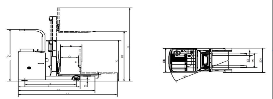 YDK10-162L机器尺寸示意图