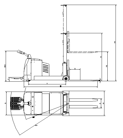 机器尺寸示意图