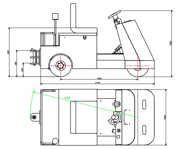 LFK60C机器尺寸示意图